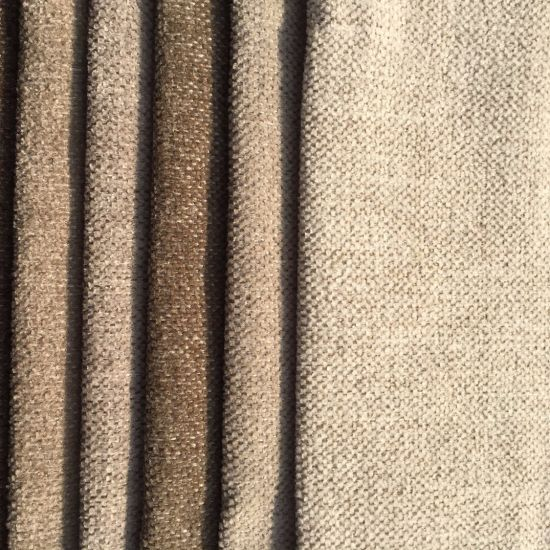 Polyester Chenille Plain Woven Fabric For Sofa Covering G096