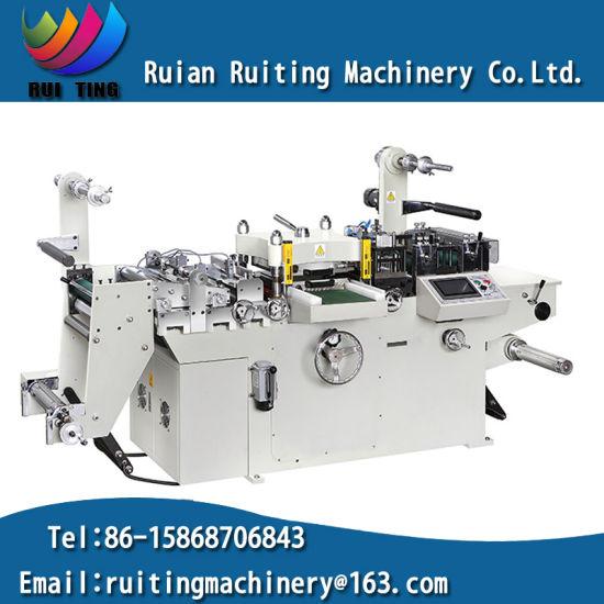 Rtmq-320b Auto Sticker Label Die Cutting Machinery with Hot Foil