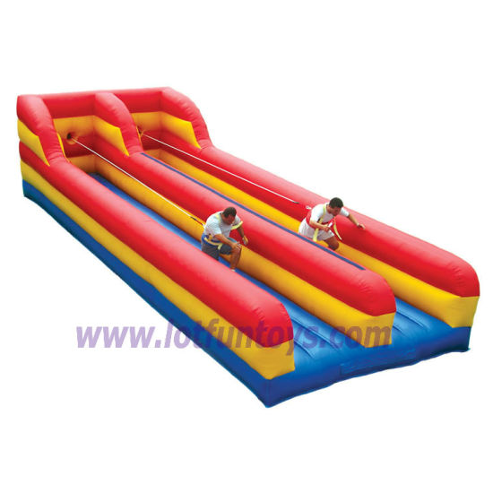 Interactive Sports Toys: Inflatable Bungee Run Running Game.