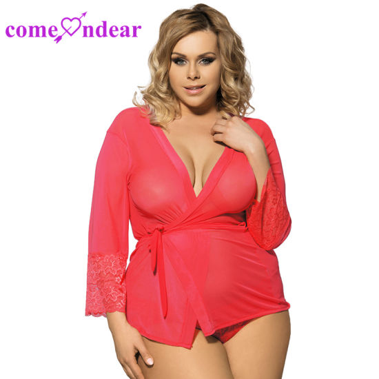 New Design ODM Red Hot Sale Sex Plus Size Robe pictures & photos