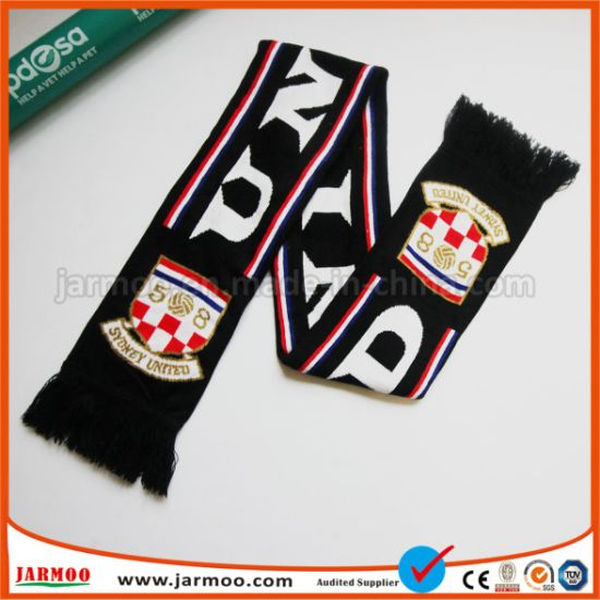 Sport Fan Soccer Football Silk Satin Scarf pictures & photos