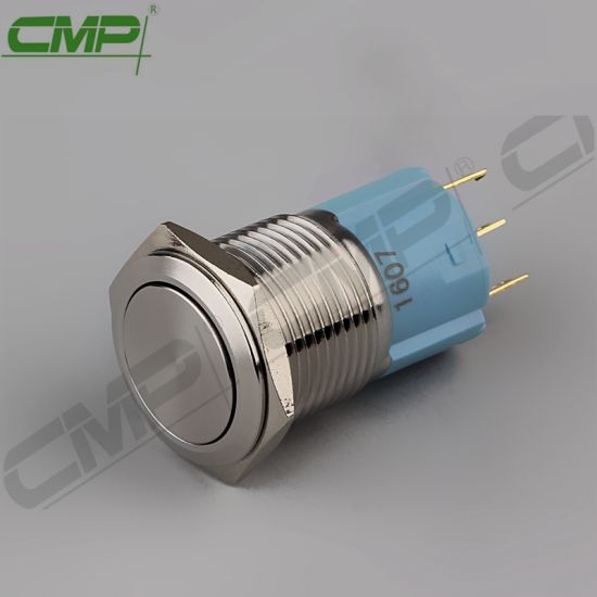 16mm Stainless or Copper Momentary 1no1nc Push Button Reset Switch