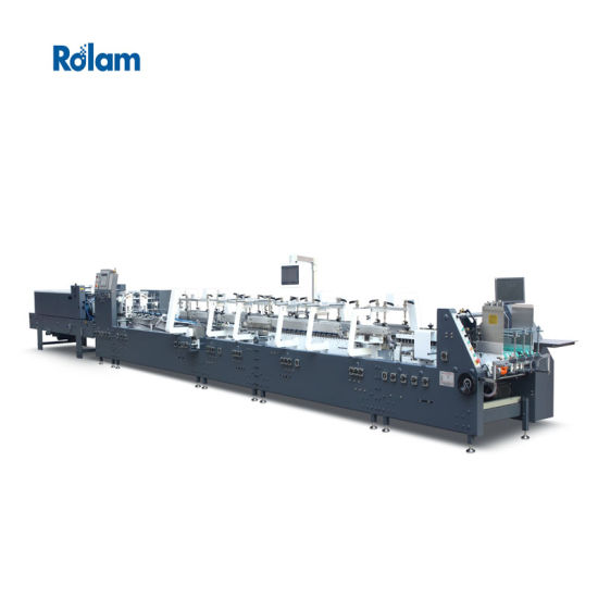Cardboard and Corrugated Box Automatic Folder Gluer / Folding Gluing Machine for Carton Boxs (GK-GS)