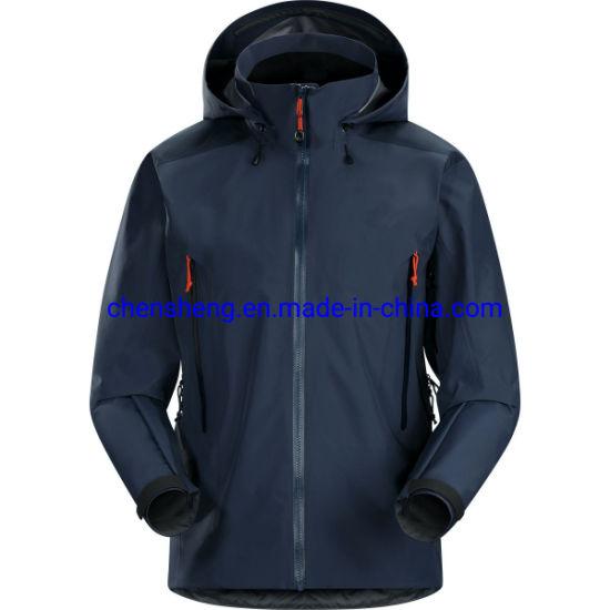 Stock Waterproof Winter Hooded Sports Hiking Jacket for Men Outdoor Coat