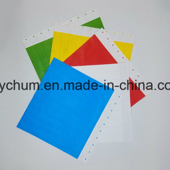 photo about Printable Wristbands for Events titled China Disposable Tyvek Band, Function Bracelet, Paper