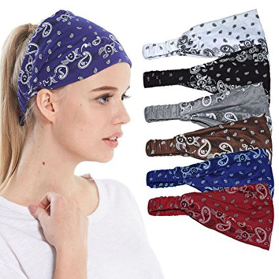 Wide Fashion Cotton Headbands for Women Breathable Moisture Wicking Sport  Head Wraps Scarf 5afc51c256e