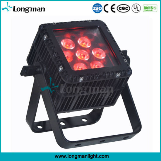 High-Quality Waterproof Square DMX 7X10W RGBW LED PAR for Stage pictures & photos