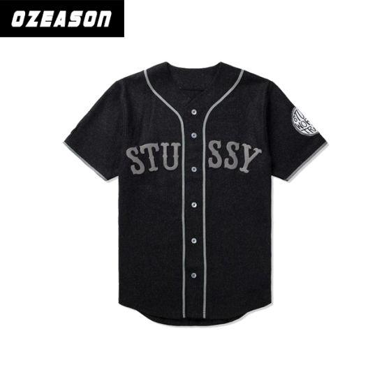 2e2306be28d Customized Full Sublimaiton Men′s Black Baseball Tops Baseball Team Jerseys  pictures   photos