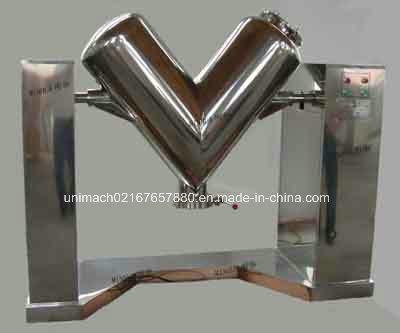 V-Type Efficient Bin Double Cone Trough Mixer