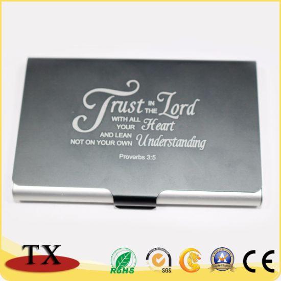best service 3e5b3 424af OEM Professional Stainless Steel Business Card Holder Card Case