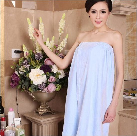 Promotional Hotel / Home Cotton Velour Bath Skirt / Pajama / Nightwear /Bathrobe pictures & photos