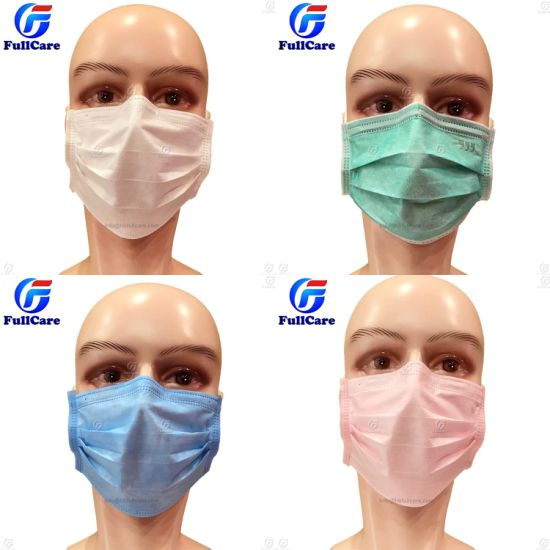 Pink Pp Nonwoven Iso13585 Mask Ce Skin Face Bfe99 Medical Surgical Friendly Disposable Elastic With Green Doctor