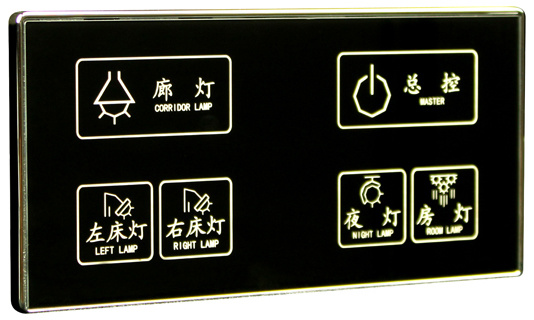 Imported Tempered Glass Soft LED Capacitive Touch Screen Switch Board pictures & photos