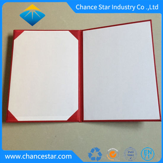 China Custom Printed A5 Diploma Covers PU Padded Certificate Folders ...