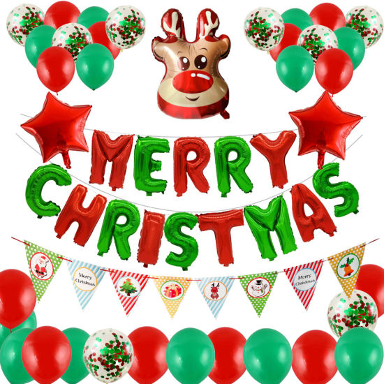 Christmas Party Decoration Balloons Set Merry Christmas Balloons