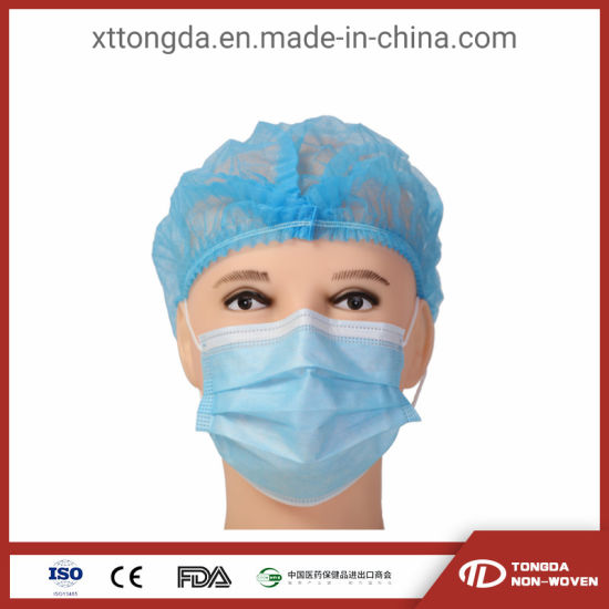3 Ply Non Woven Medical Surgical Mask Disposable Face Mask OEM Size and Color with CE
