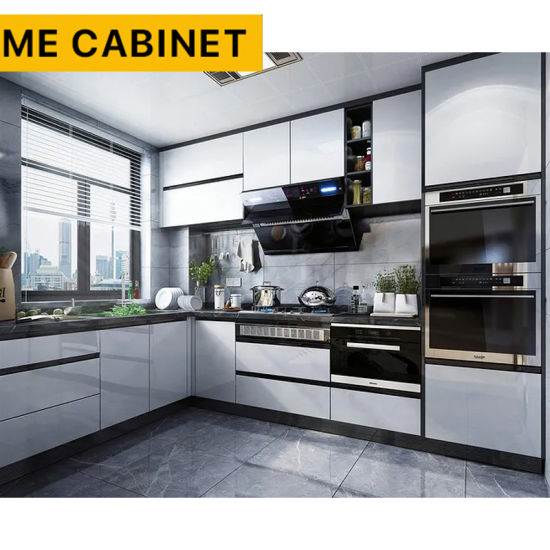 Mecabinet Kitchen Furniture Kitchen Cabinets China Factory OEM/ODM Linear Style Custom Cabinets Natural Stone Table Material Modern Kitchen Cabinet for Home