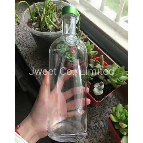 Custom Crystal Alcoholic Glass 750ml Tequila Beverage Glass Bottle
