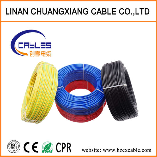 China Copper Wire Bv Bvv Hot 1 5mm 2 5mm 4mm 6mm 10mm Single Core Copper Pvc House Wiring Electrical Cable And China Electric Cable Electric Wire Cable