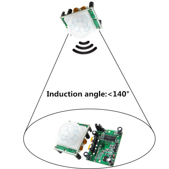 New HC-SR501 PIR Human Motion Sensor Body Pyroelectric Infrared SR501 Detector