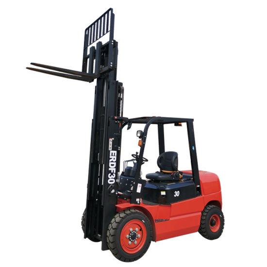 Everun ERDF30 3ton Diesel Manual Compact Portable Farm Home Use Construction Equipment Machinery Smart Small Mini Forklift