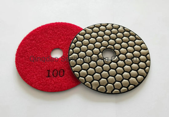 China Professional Flexible Dry Diamond Polishing Pad 5 Inch 125mm