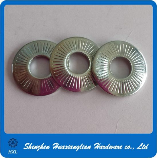 China Manufacture Zinc Plated Steel Butterfly Grounding Washer with Point pictures & photos