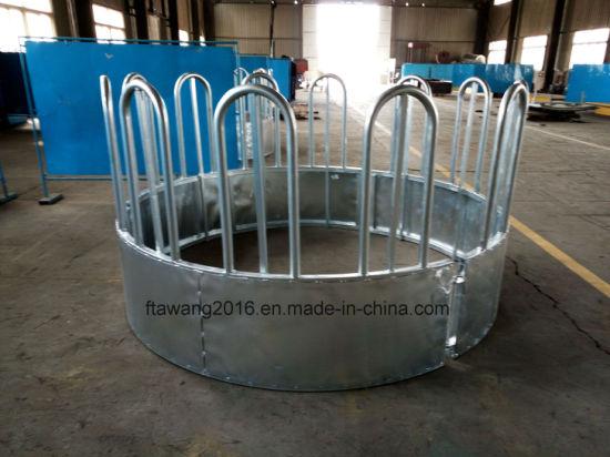 Heavy Duty Galvanized Cattle Hayrack Livestock Ring Panel