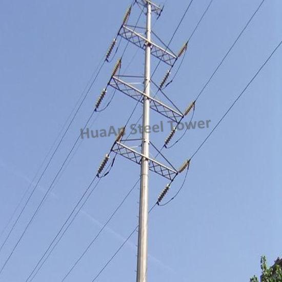 Electric Power Transmission Galvanized Steel Iron Tubular Pole