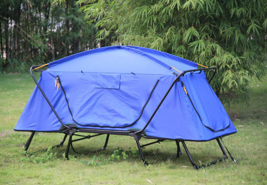 Outdoor High Quality Metal Frame Fishing Folding Bed Camping Tent with Feet pictures & photos