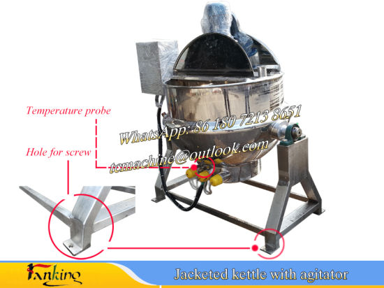 500L Ss304 Cooking Kettle Oil Heating Jacketed Kettle for Sauce and Jam pictures & photos