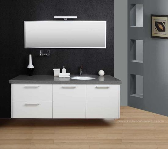 Grey Top Match White Lacquer Vanity Cabinet pictures & photos