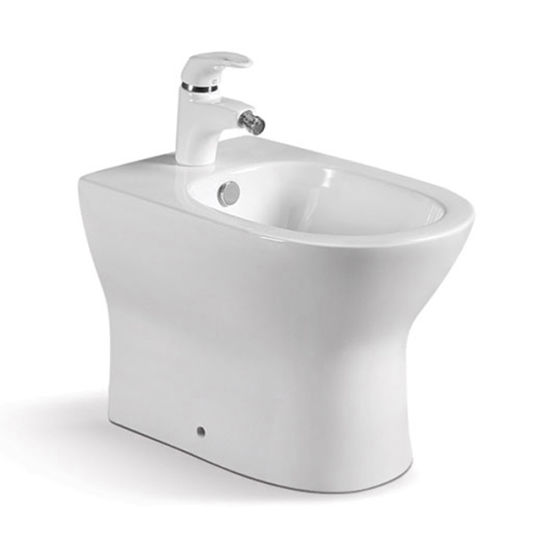 USA Standard Non Electric Floor Mounted Ceramic Bidet pictures & photos