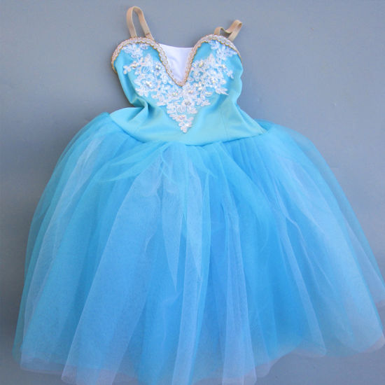 Teen Kiddress Ballerina Costume Lyrical Dancewears Girls Party Tulle Ballet Dance Wear
