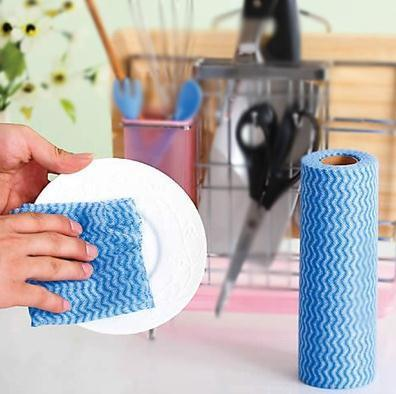 Multipurpose Tear off Point Roll Dishcloth Nonwoven Microfiber pictures & photos