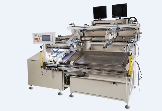 HY-D58 Double-Sided Dust Removal Automatic Screen Printing Machine Transfer Paper Label Packing Silk Screen Printer Machinery