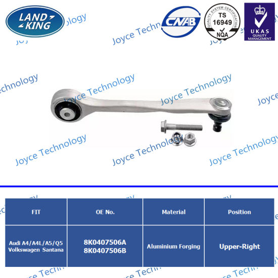 Auto Parts Upper Right Control Arm OE: 8K0407506A 8K0407506b for Audi A4/A4l/A5/Q5/Santana pictures & photos
