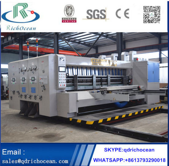 Auto Flexo Printing Cutting Packing Packaging Corrugated Carton Making Machine