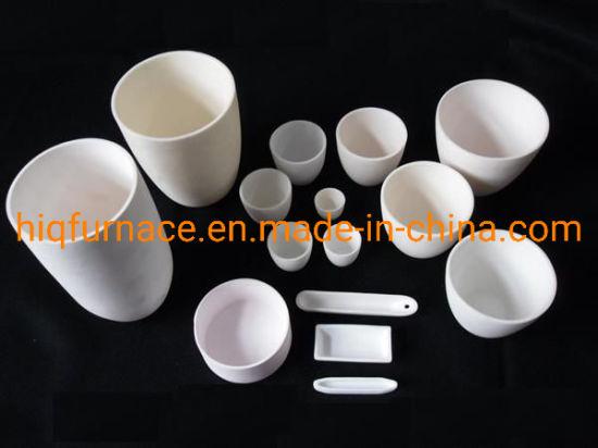 95% & 99% Al2O3 Aluminum Oxide Alumina Ceramic Crucible with Corrosion Resistance, 99%Al2O3 Alumina Melting Ceramic Round Crucible