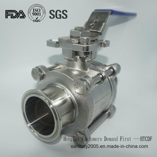 Stainless Steel Sanitary PTFE Encapsulated Triclamp Ball Valve with SS304