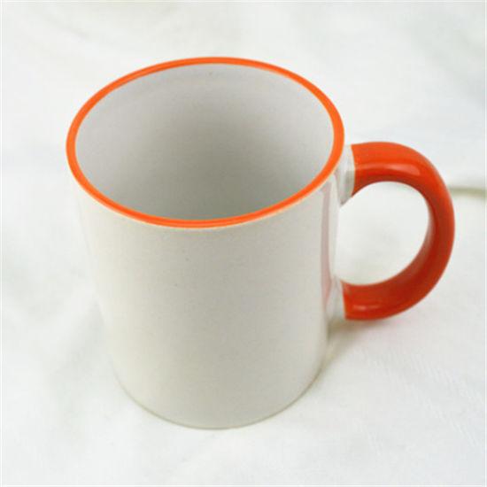 Wholesale 11oz White Inner Color Sublimation Eco Ware Plain White Porcelain Coffee Mug