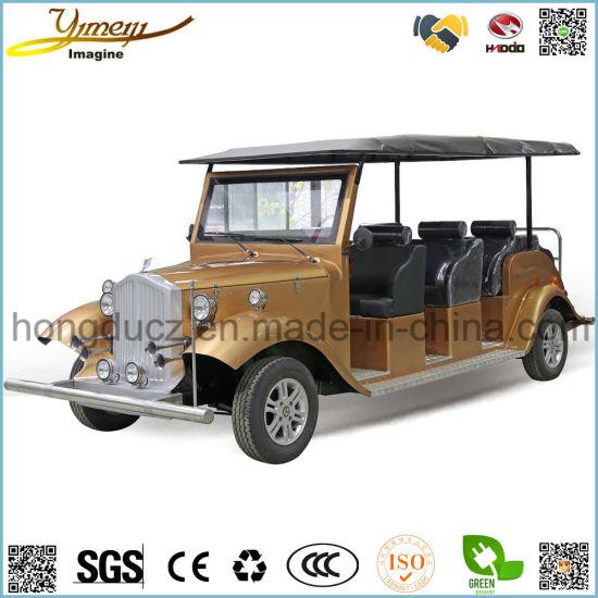 8 Seats Electrical Vintage Car E Sightseeing Car Safe Vehicle Fashion Tour Bus