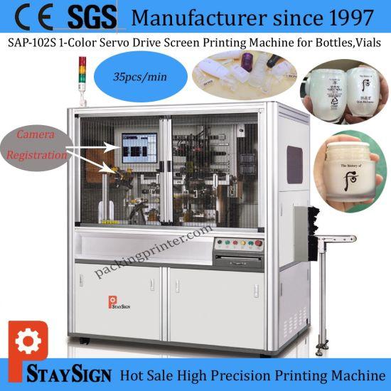 Sap-102s Automatic Servo Type Screen Printing Machine for Glass Bottles