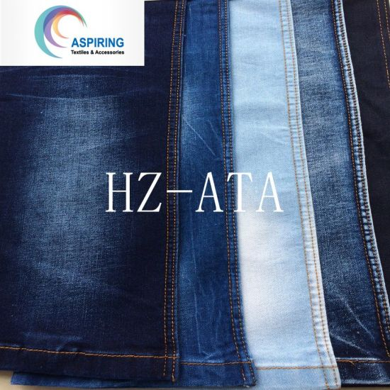 Cotton T400 Viscose Woven Denim Fabric pictures & photos