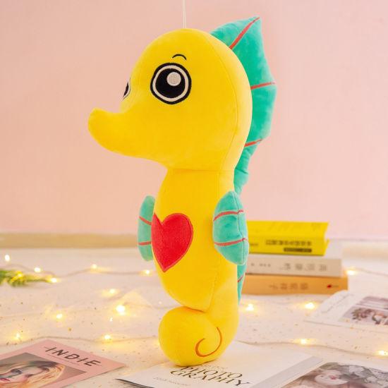 Factory Wholesale Custom Plush Animal Sea Horse Stuffed Soft Toy