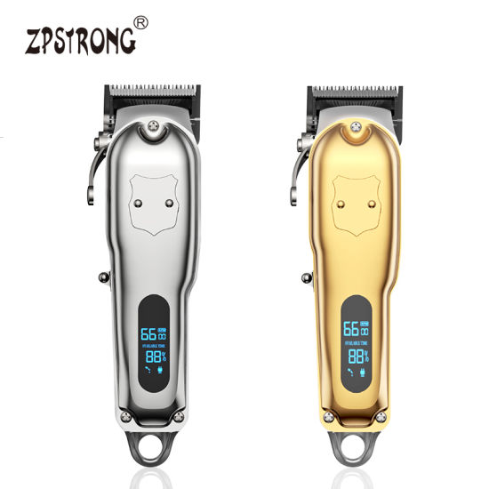 New Professional All Metal Electric Barber Hair Trimmer Cordless Rechargeable LCD Hair Clipper Manufacturer