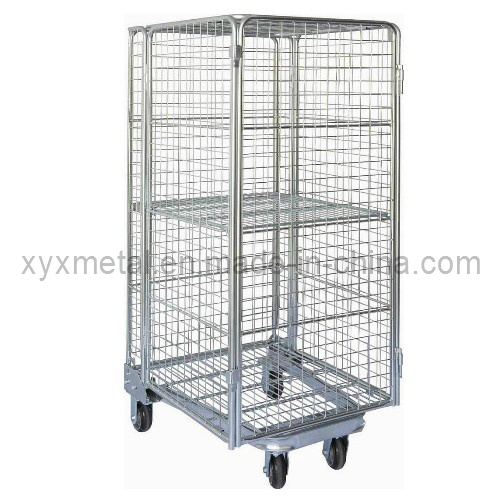 Newest Style Full Security 4 Sides Logistics Trolley Roll Container