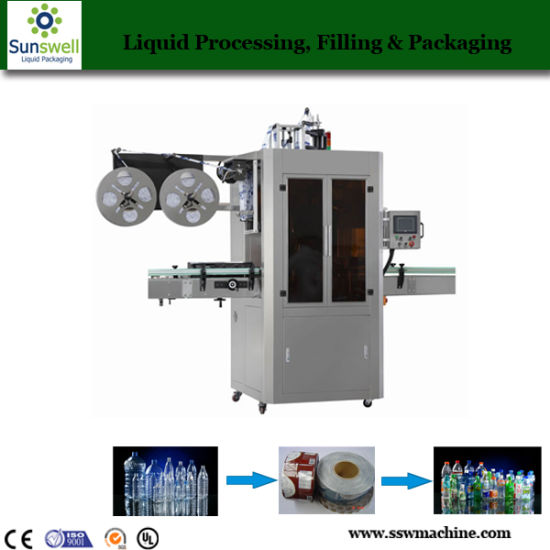 Automatic Bottle Shrink Sleeve Labeling Machine pictures & photos