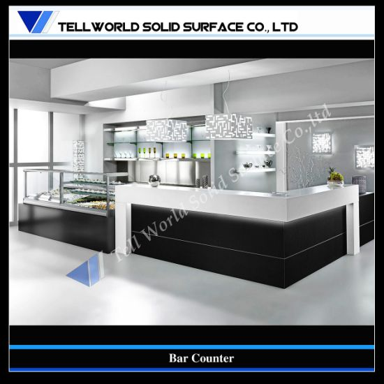 China Customized Artificial Stone Modern Home Bar Counter Design (TW ...