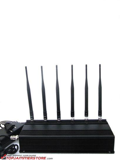 315MHz/433MHz6 Antenna Cell Phone GPS RF Jamer (8246)